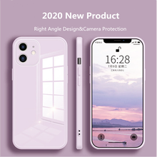Liquid Glass Case For iPhone 12 11 Pro XS Max X XR 7 8 Plus SE2 2020 Scratch-Resistant Colorful Back Cover Protective Case
