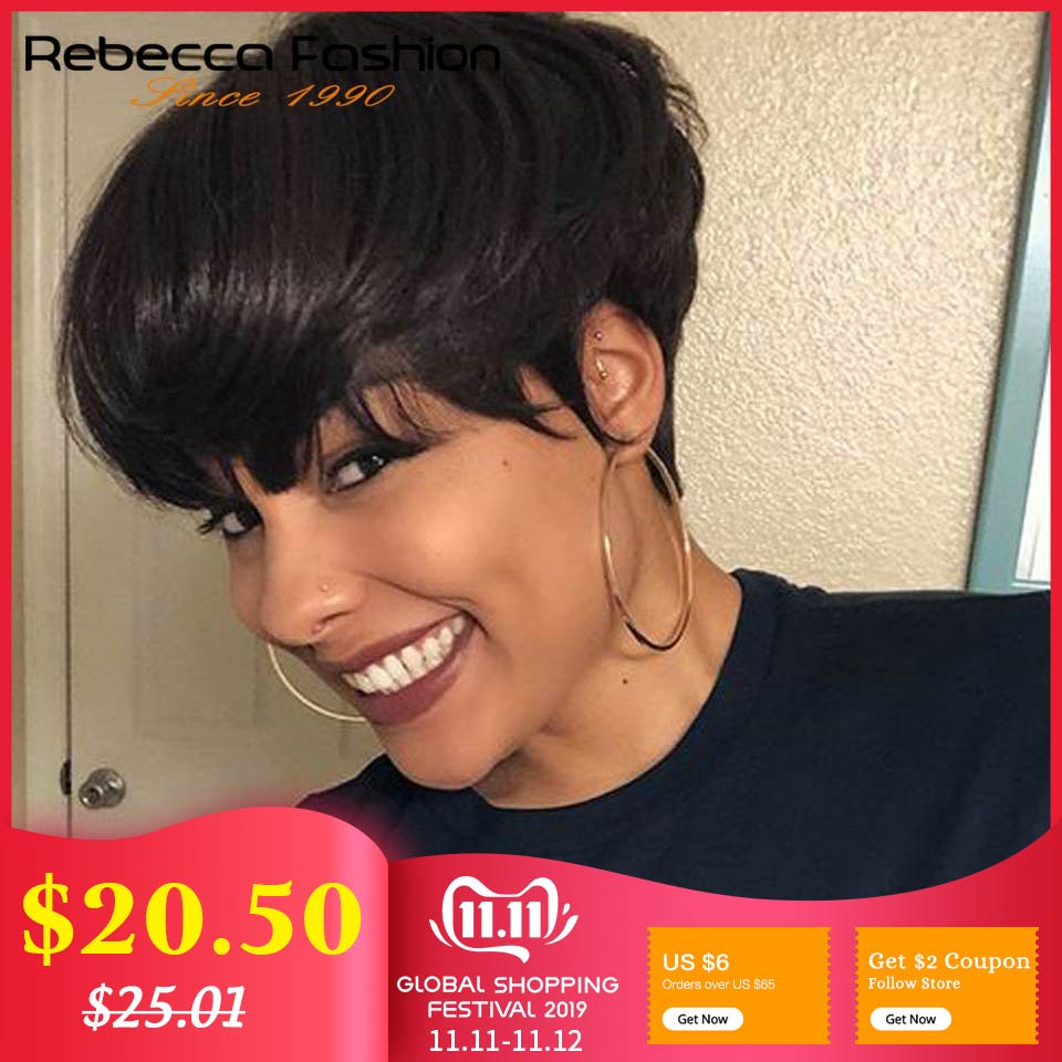rebecca-short-straight-hair-wig-peruvian-remy-human-hair-wigs-for-black-women-brown-red-mix-color-machine-made-wig-free-shipping