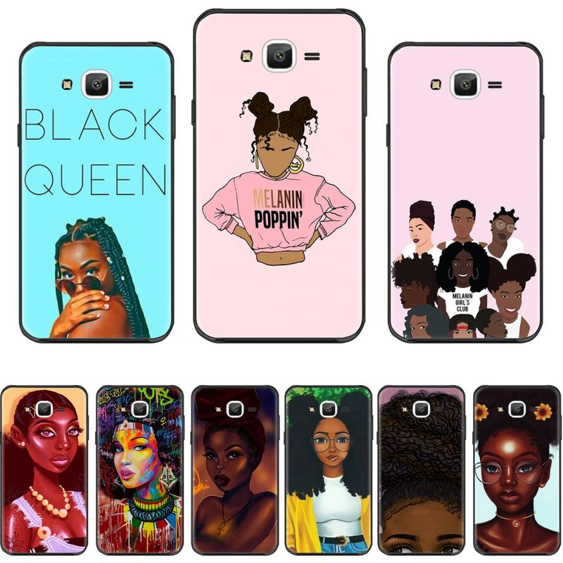 Afro Black <font><b>girl</b></font> <font><b>sexy</b></font> Soft Silicone Black Phone <font><b>Case</b></font> For Samsung <font><b>Galaxy</b></font> J2 J4 <font><b>J5</b></font> J6 J7 J8 <font><b>2016</b></font> 2017 2018 Prime Pro plus Neo duo image