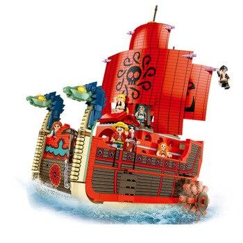 1009 PCS ONE PIECE Boa Hancock Pirate Ship Building Blocks Bricks Classic Model Kids Toys Compatible Anime Movie