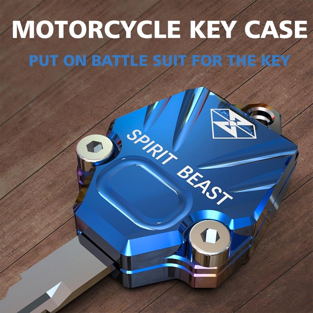 SPIRIT BEAST Motorcycle Key Case Cover Accessories Motorbike Motocross Universal T6 Aluminum Alloy
