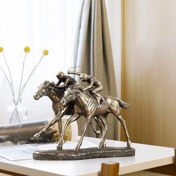 Креативные конные гонки, винный шкаф, украшение, статуя животного, гостиная, спальня, предметы для дома, крыльцо, ремесла