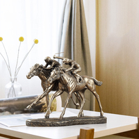 Creative Horse Racing Wine Cabinet Decoration Decoration Animal Statue Living Room Bedroom Home Furnishings Porch Crafts