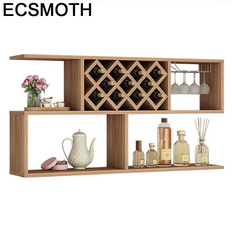 Kitchen Rack Armoire Adega Vinho Mueble Kast Storage Display Salon Meble Desk Meja Commercial Bar Furniture Shelf Wine Cabinet