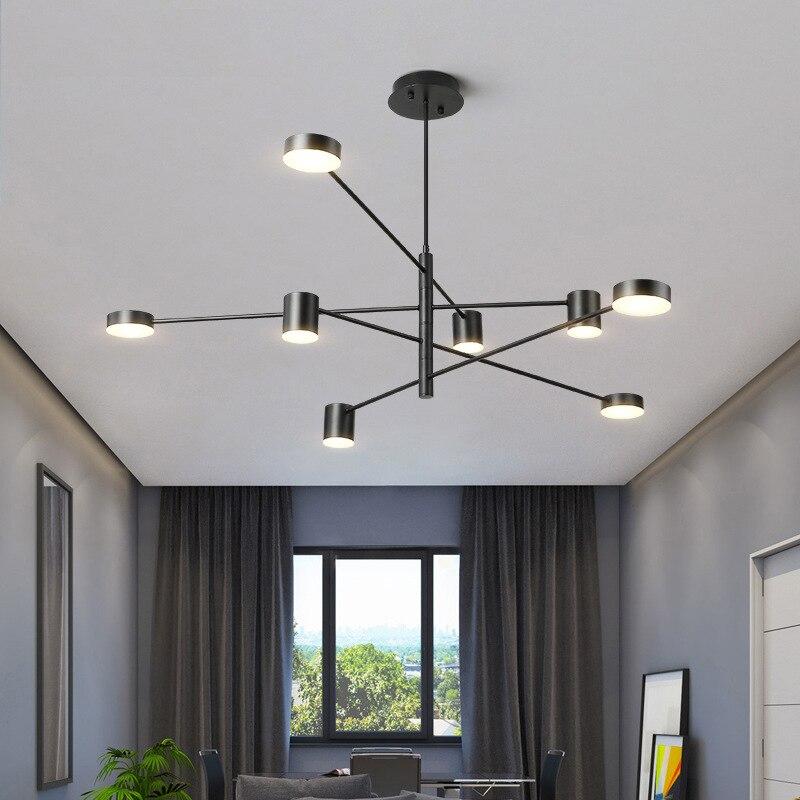 LED industriel lustre cuisine ilot salle à manger Restaurant plafond lustre suspension noir cuivre or Rose lustre