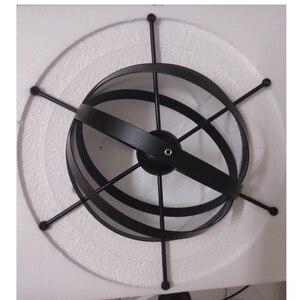 Image 5 - Lámpara colgante de hierro con forma de vela para comedor y centro comercial, iluminación Crod, 1,2 M, E27, 110 240V, color negro, Vintage, envío gratis