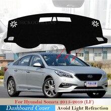 Защитная накладка на приборную панель для Hyundai Sonata 2015 2016 2017 2018 2019 LF, автомобильные аксессуары, приборная панель, Солнцезащитный коврик