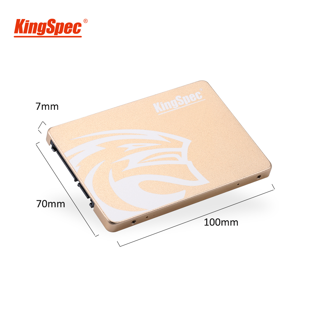 KingSpec SSD 480gb 2.5 SATA 720 gb ssd SATA III 1 to SSD hdd disque dur interne en métal doré pour pc de bureau portable cadeau