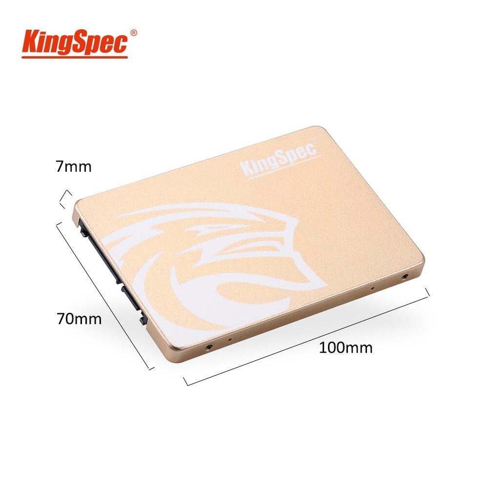 Kingspec ssd 480gb 2.5 sata 720 gb ssd sata iii 1 tb ssd hdd unidade de estado sólido interno ouro metal para desktop computador portátil presente