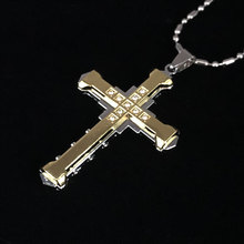 New Hot Sale Jesus Crystal Cross Necklace for Men