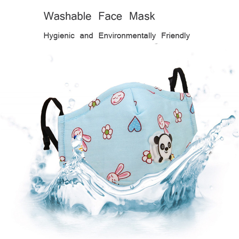 3Pcs Children Protective Mask Cotton Activated Carbon Filter Face Respirator Air Purifying PM2.5 Dust Masks Reusable Windproof