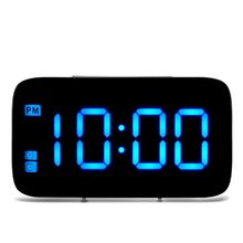 LED Alarm Clock Digital LED Display Voice Control Electric Snooze Night Backlight Desktop Table Clocks Watch USB Charging Cable