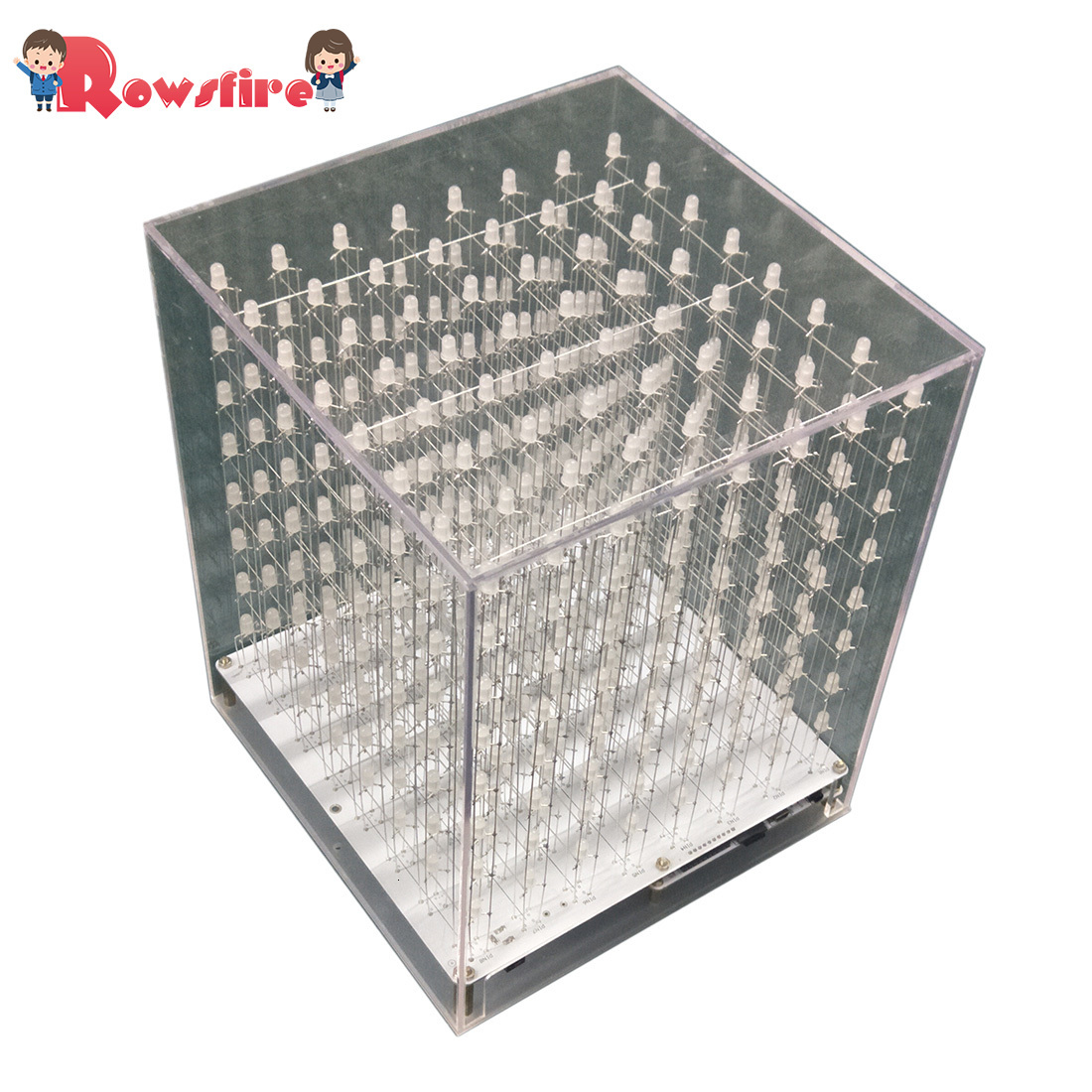 8 X 8 X 8 3D Multicolor LED Light Cube Kit Infrared Remote Control Light Cube Gift - Finished Product