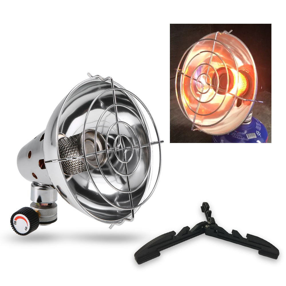 Outdoor Mini Portable Gas Heater Spot Camping Equipment Warmer Heating Stove Cooker Cap Winter Warm Stove For Hiking Picnic