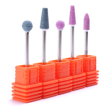 5 Styles Manicure Ceramic Milling Cutter Burrs Nail Drill Bits Pro Machine Nail Cutter For Pedicure Electric Nail Files Nail Art цена 2017