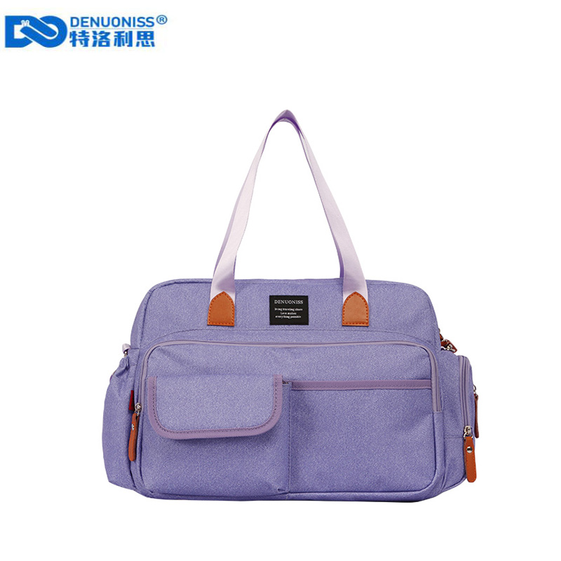 DENUONISS Portable Mummy Bag With Diaper Pad Multifunctional Crossbody Diaper Bag For Mom Nappy Changing Maternity Bag