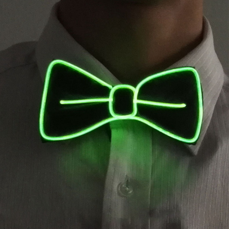 Luminescent Bow Tie Night Light LED Party Novelty Gift Decoration Bow Tie Christmas Halloween Accessories