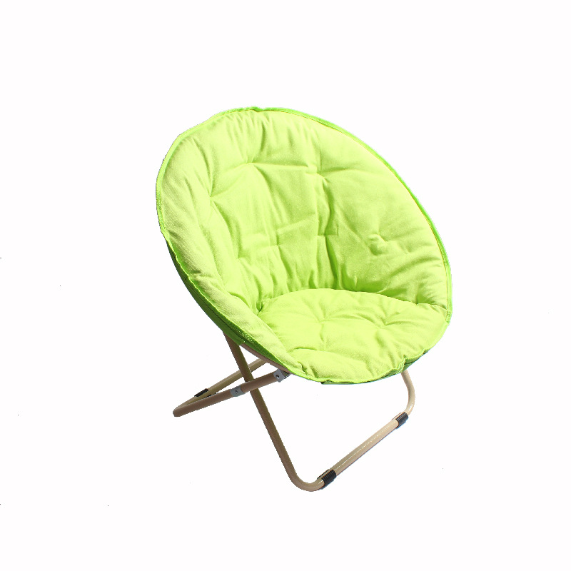 Moon Folding Chair Portable Couch Lazy Chair Soft  Cloth Cushion Warm Seat