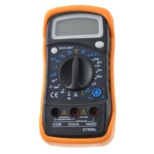 DT830L/DT850L Portable Digital Multimeters Large Lcd Display Handheld AC/DC Tester With Test Lead Intelligent Digital Multimetro brand new kyoritsu kew 2000 digital multimeters with ac dc clamp sensor and test leads