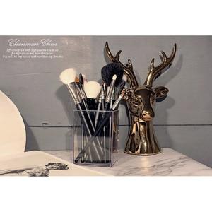 Image 5 - Make up Borstel Houder Acryl Waterdichte Make Up Borstel Organizer Make Borstels Opslag Container Cosmetische Accessoire Tool MEISJE Gift