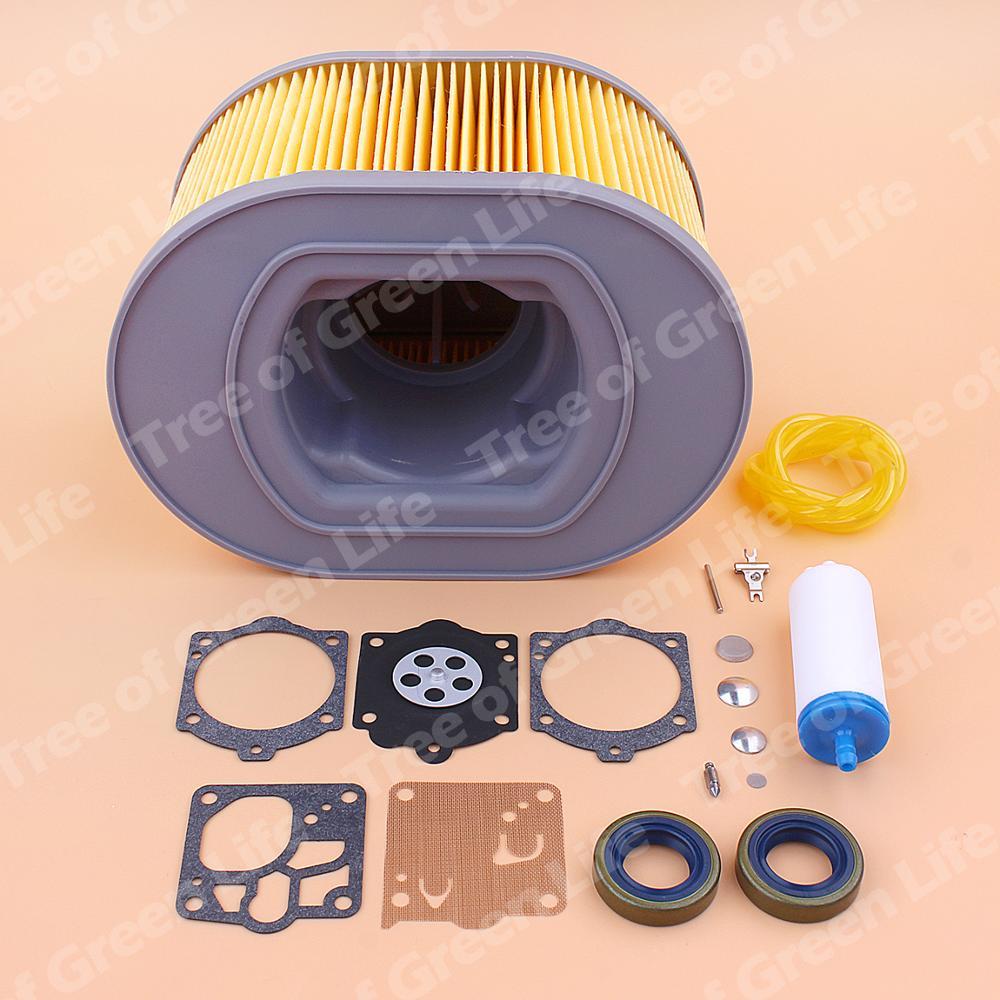 Air Fuel Filter Line For Husqvarna K970 K1260 Cut Off Saw Oil Seal Carburetor Repair Kit 510244103 510244101