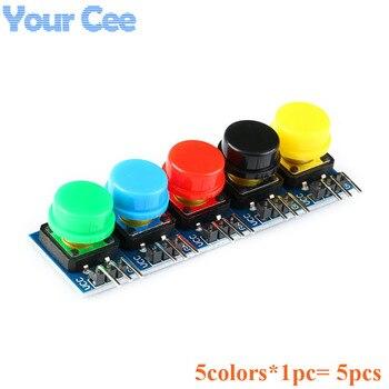 Módulo de 5 uds llave grande Módulo de botón grande colorido Interruptor táctil para luz módulo con sombrero sin bloqueo automático Salida de alto nivel para Arduino