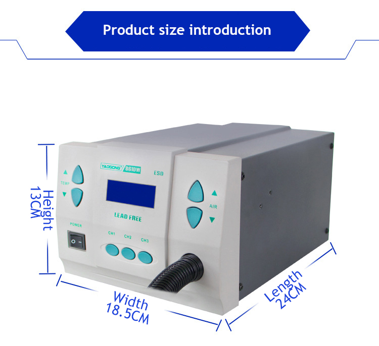 YAOGONG Air Gun SMD Electric Rework Soldering Free  Lead 1000W Station Better Hot  861DW Irons
