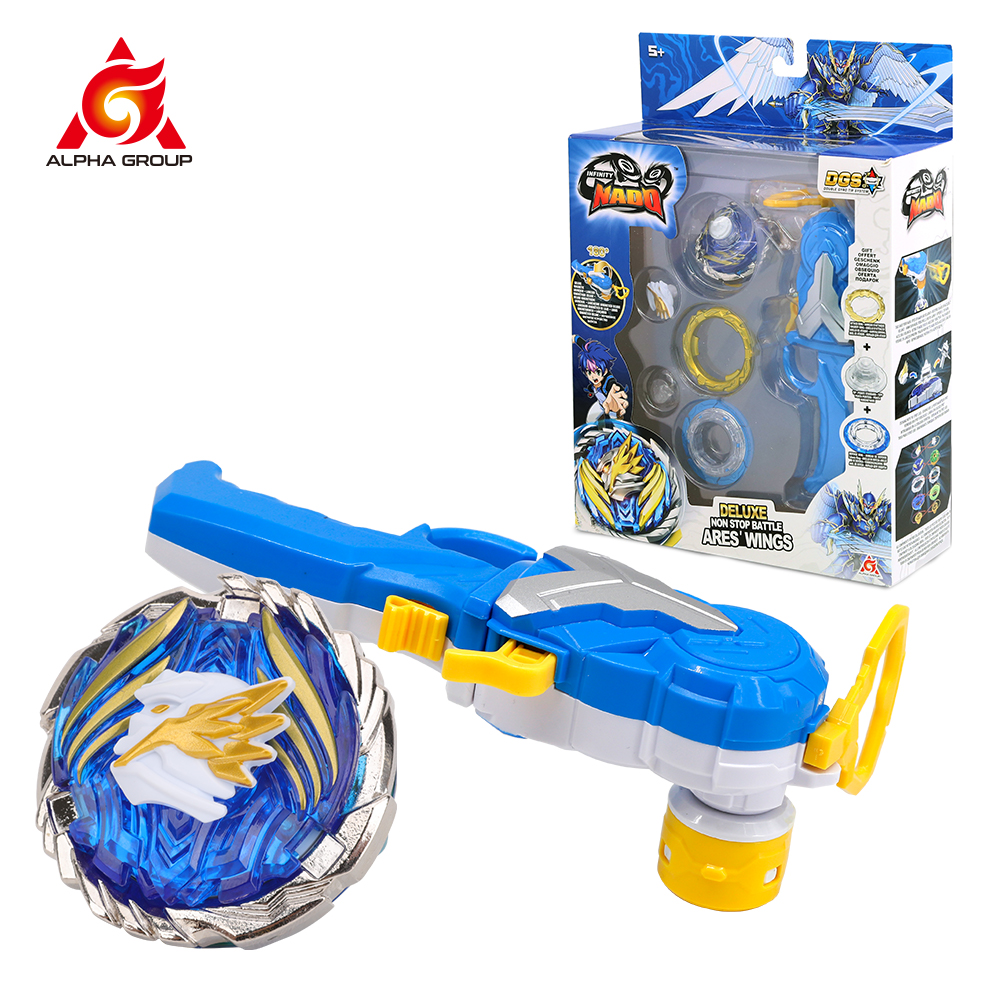 2020 Infinity Nado 5 Advanced series - Cracking Panzer Deluxe Non Stop Battle Spinning Top Beyblade Launcher Beyblade Toy