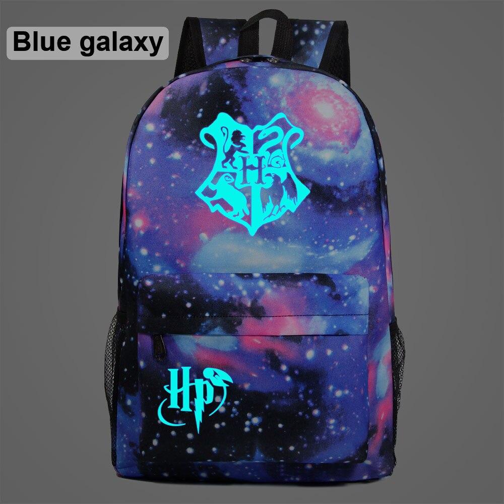 Fluorescent Magic School Galaxy Children Boy Girl School Bag Teenagers Student Schoolbags Women Packsack Men Backpack