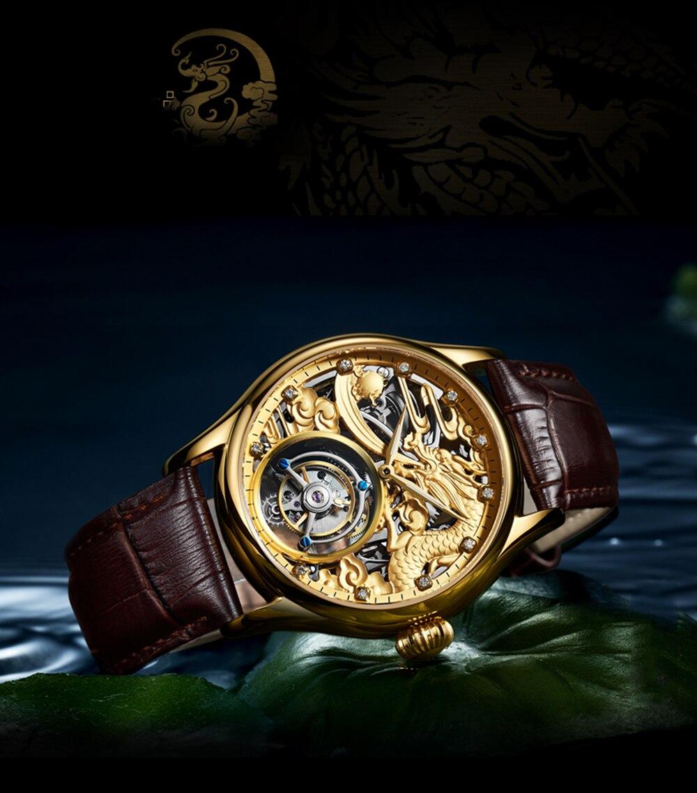 New GUANQIN Original Tourbillon watch men top brand luxury waterproof skeleton Sapphire Mechanical Tourbillon relogio masculino 19