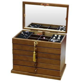Vintage Jewelry Storage Cases  six-Tier
