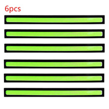 6pcs 17cm Green Super Bright COB Car LED DRL Driving Light Ultra-thin Waterproof