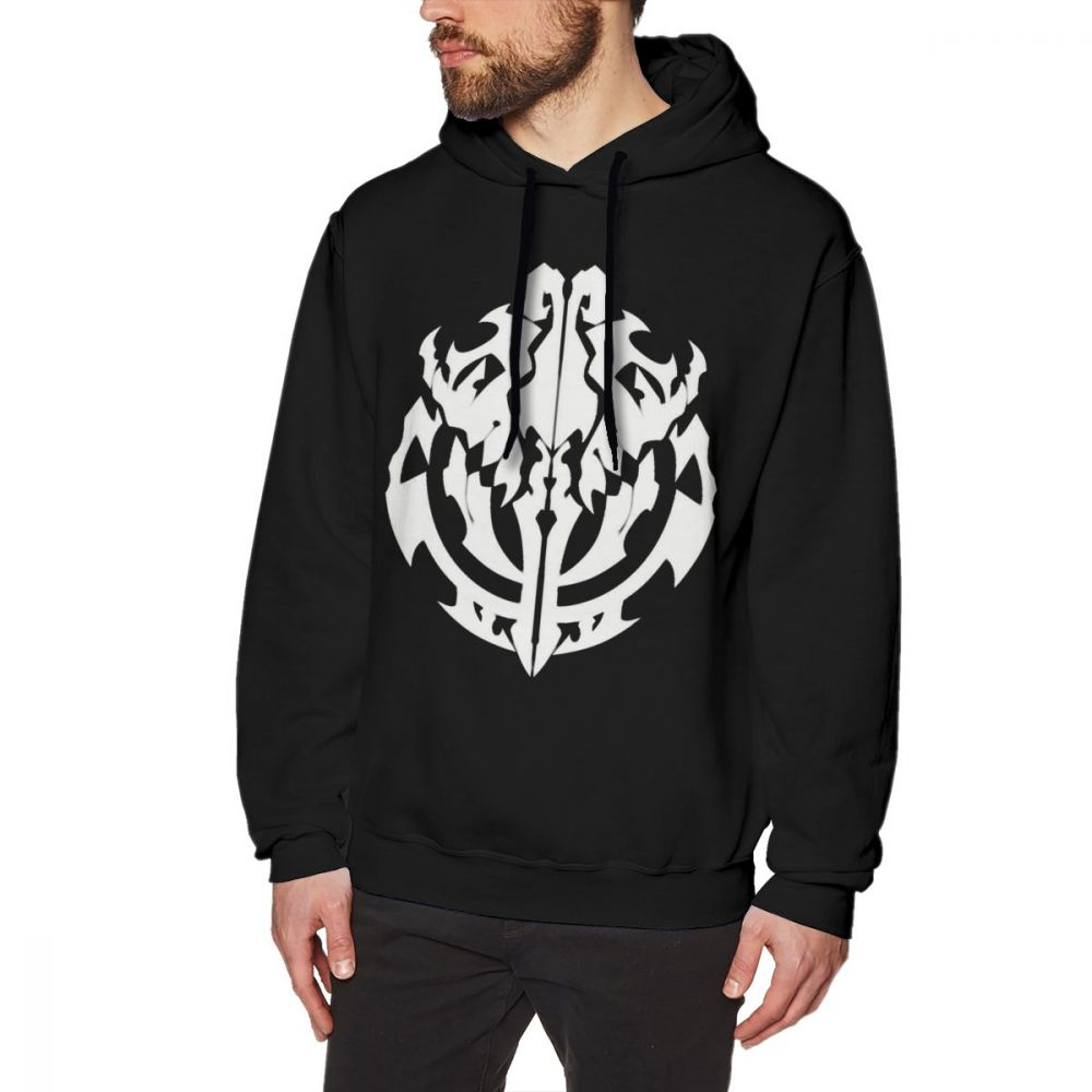 Overlord Hoodie Overlord Anime Guild Emblem Ainz Ooal Gown Hoodies Oversize Winter Pullover Hoodie Loose Cotton Blue Hoodies