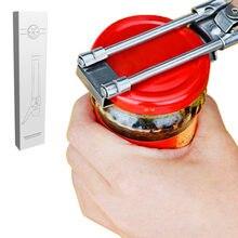 Abridor de garrafa manual profissional do frasco do abridor de frasco do aço inoxidável, bom para segurar o abridor de garrafa de vidro do frasco tampas removedor ferramenta da cozinha