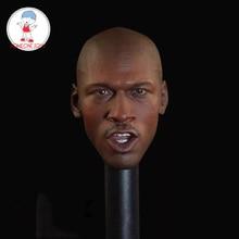 """2 style 1/6 mężczyzna głowa Sculpt gwiazda koszykówki Jordan głowa rzeźba dla 12 """"DIY kolekcja figurek"""