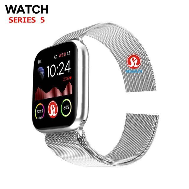 שעון 5 Bluetooth חכם שעון 44mm SmartWatch עבור אפל שעון iOS iphone אנדרואיד טלפון קצב לב כושר Tracker PK IWO 12 פרו