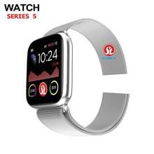 Relógio 6 bluetooth relógio inteligente 44mm smartwatch para apple relógio ios iphone android telefone freqüência cardíaca de fitness rastreador pk iwo 12 pro