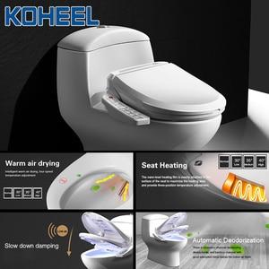 Image 2 - KOHEEL インテリジェント便座電気ビデカバーインテリジェントビデ熱クリーンドライマッサージスマート便座
