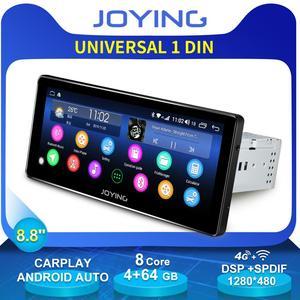 """Image 1 - Rádio universal para carro, rádio universal para carro com android, unidade multimídia octa core, suporte a fita para cartão sim zlink, 8.8 """"gravador dvr"""