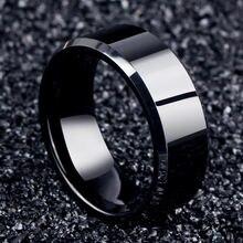 Очаровательное Ювелирное кольцо мужские черные кольца из нержавеющей
