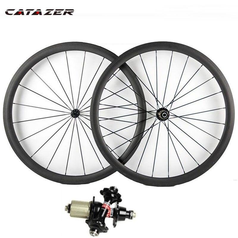 700C Road Bike Rims Carbon Fiber Clincher Rims 38-50 60-88mm Bicycle Carbon Rim