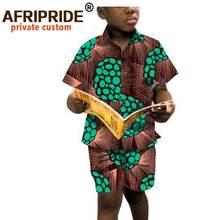 Рубашка и брюки с коротким рукавом для мальчиков одежда в африканском