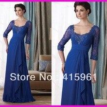 2019 farsali Free Shipping Royal Blue Beaded custom Lace vestidos de novia Long Sleeve Moth