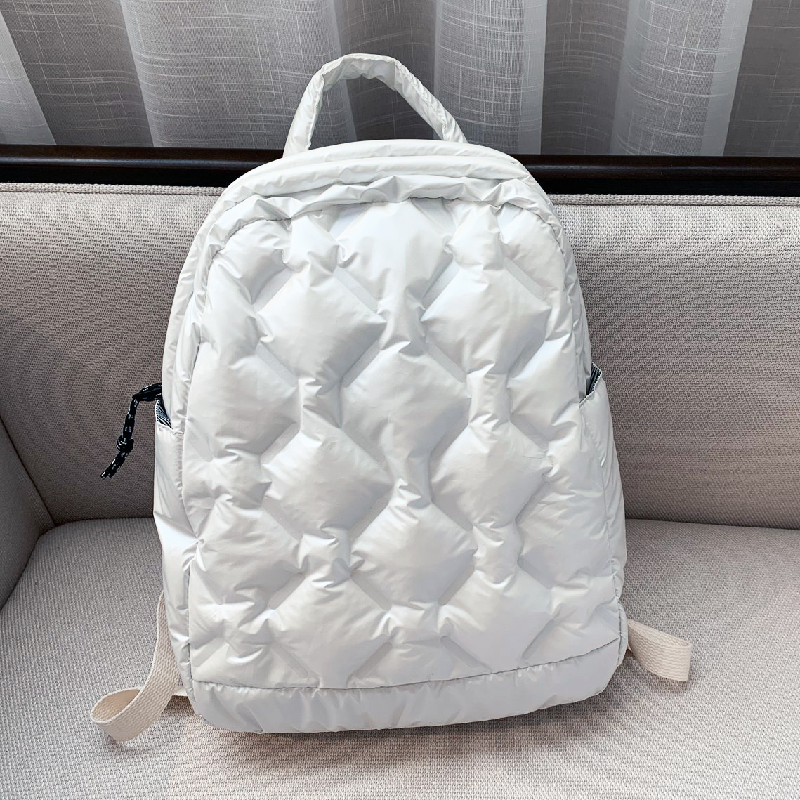 Ultralight Winter Warm Space Down Backpack Women School Backpack Bags for Girls Fashion Trend Lightweight Cotton Travel Bags