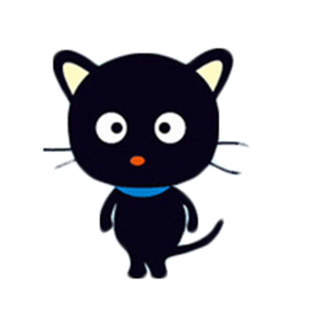 ใหม่ 1 Pcs สีดำขนาดเล็ก Cat Switch สติ๊กเกอร์ขายส่งน่ารักโน้ตบุ๊คตู้เย็นทีวีตกแต่งสติ๊กเกอร์ติดผนัง