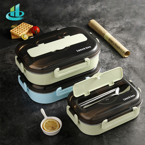 Image 4 - HENGFENG المحمولة 304 غير القابل للصدأ صندوق غداء فولاذ حار اليابانية نمط مقصورة بينتو صندوق المطبخ مانعة للتسرب الغذاء الحاويات
