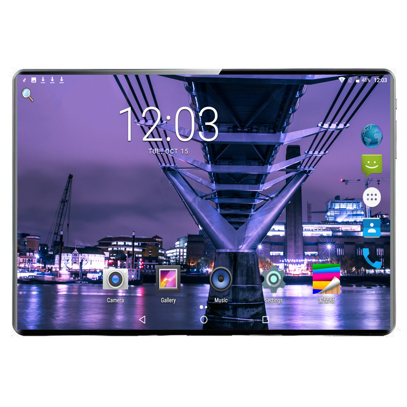 2020 New 1920x1200 10Inch MTK 6797 10 Core Tablet PC 8GB RAM 128GB ROM Android 9.0 WiFi GPS Deca Core 8mp Mobile Phone Tablet