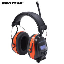 Protear DAB+/DAB Radio Hearing Protector 25dB 1200mAh Lithium Battery Earmuffs Electronic Bluetooth Headphone Ear Protection