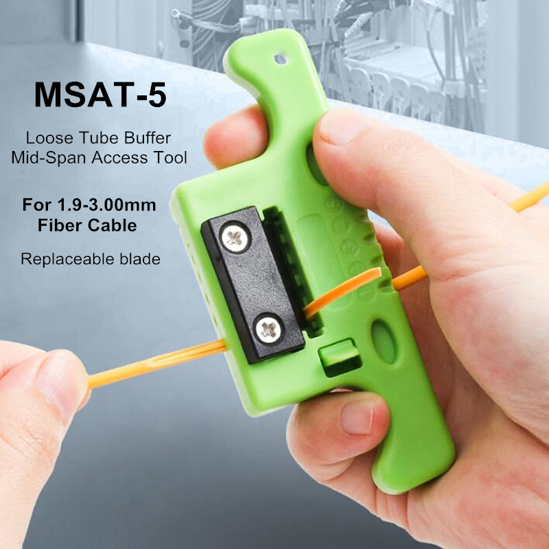 2 PCS MSAT-5 Fiber Cable Ribbon Stripper Miller MSAT 5 Loose Tube Buffer Mid-Span Access Tool 1.9mm To 3.0mm Replaceable Blade
