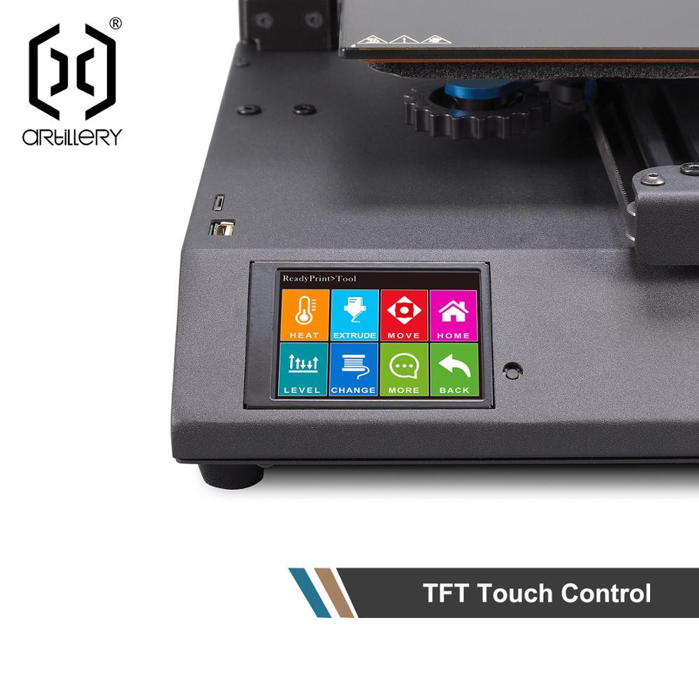 2019 artillerie 3d-printer génie 220X220X250mm taille bureau niveau haute précision double Z axe TFT écran - 6